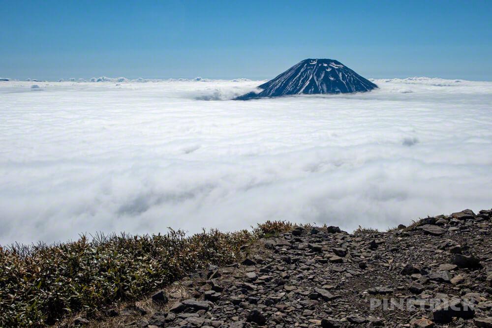 ニセコアンヌプリ 登山 北海道 雲海 羊蹄山