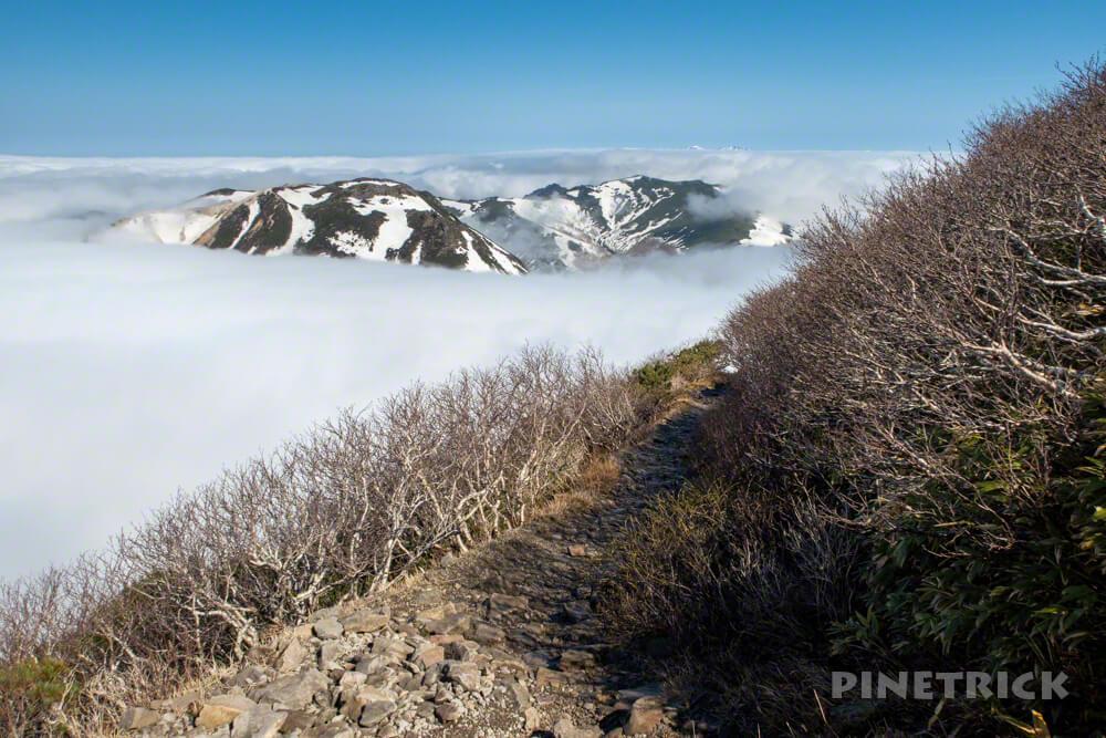 ニセコアンヌプリ 登山 北海道 雲海 ニセコ連山