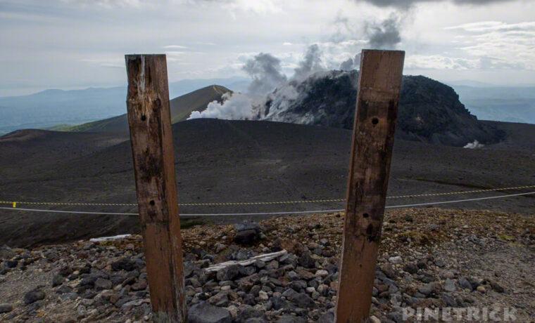 樽前山 登山 北海道 東山山頂 標識