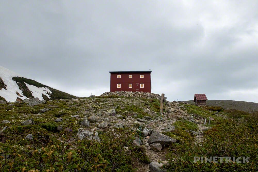 白雲岳避難小屋 登山 北海道