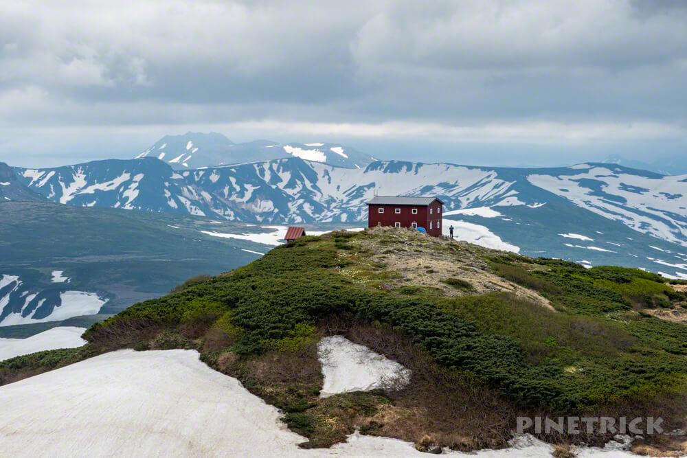 登山 北海道 白雲岳避難小屋 絶景