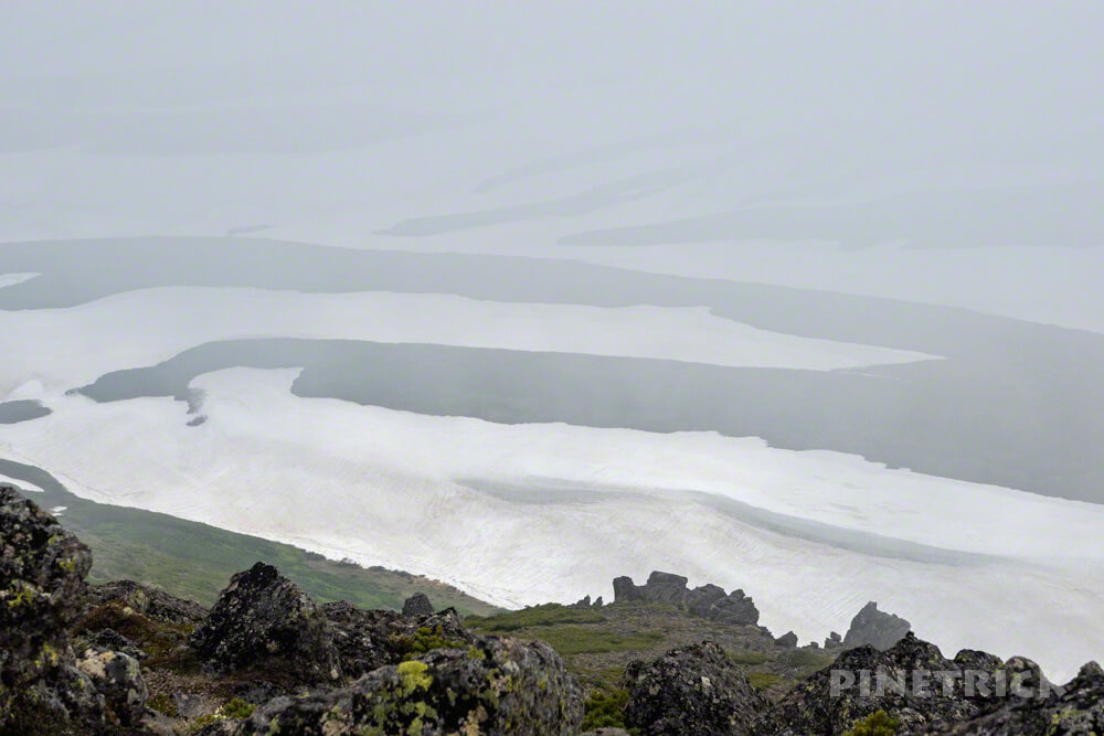 白雲岳 登山 ゼブラ雪渓 北海道