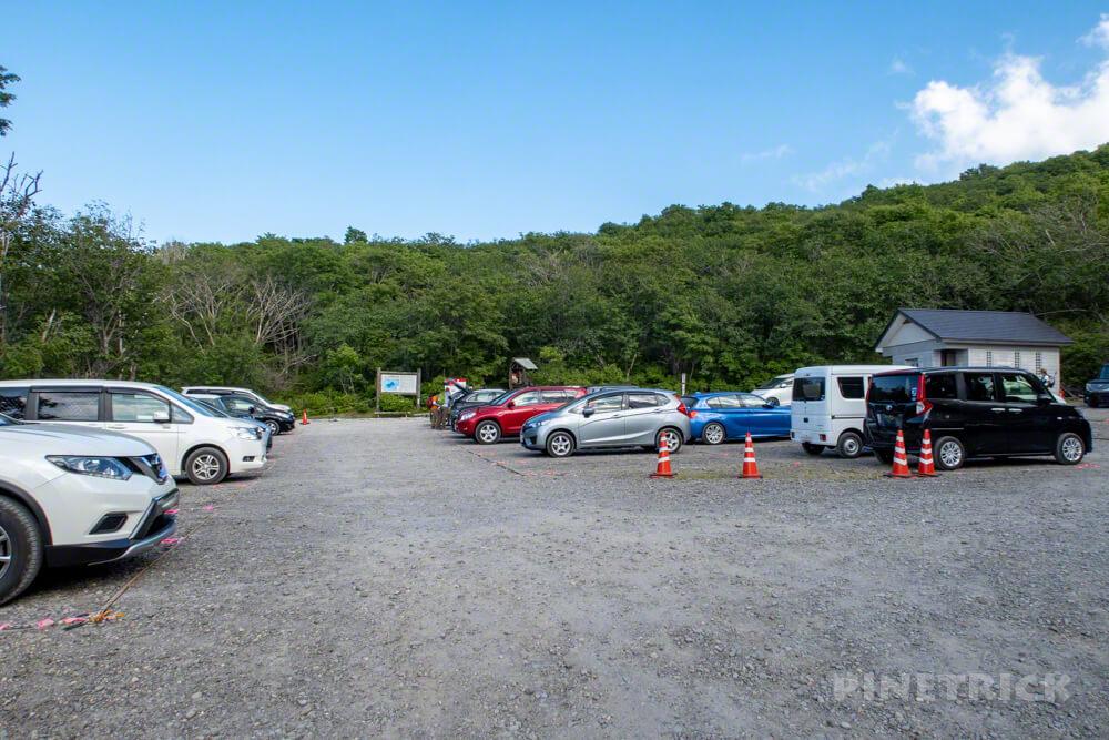 樽前山 登山 北海道 7合目登山口 駐車場