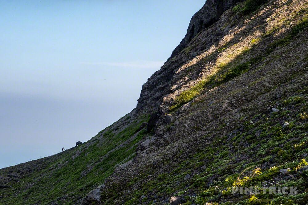 樽前山 登山 北海道 西山 シルエット