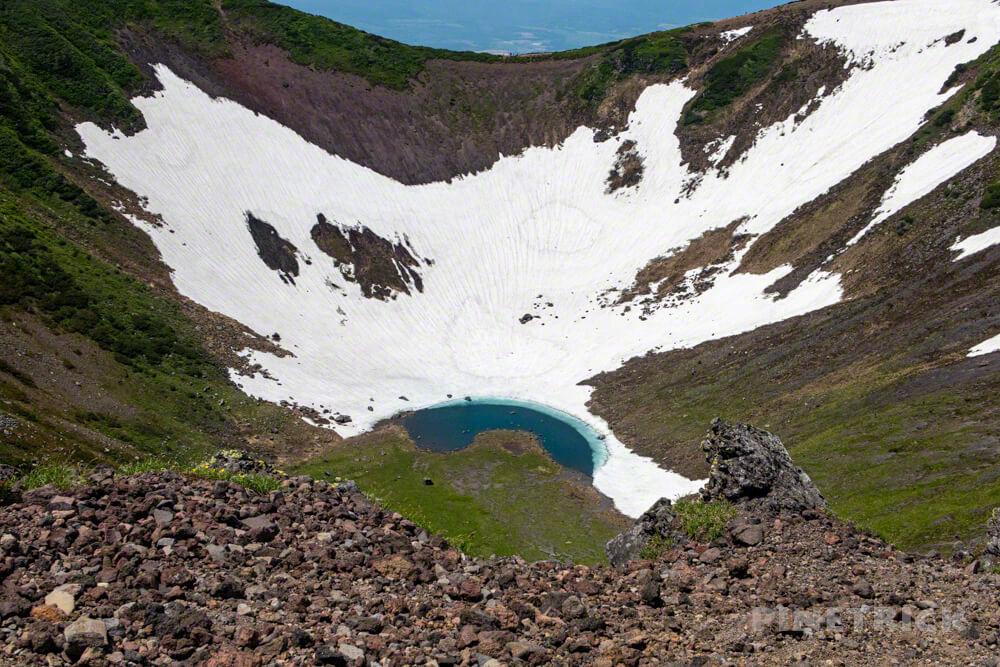 羊蹄山 京極コース 登山 北海道 外輪 お釜