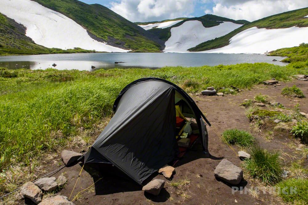 登山 テント泊 天人峡コース ヒサゴ沼 テラノバ