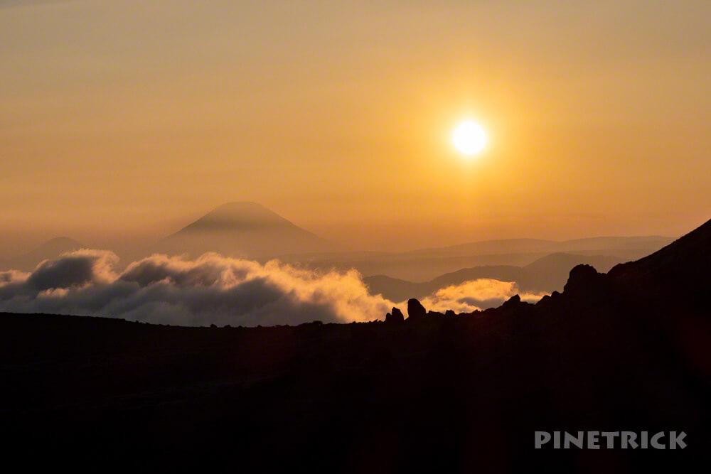 樽前山 羊蹄山 サンセット 溶岩ドーム 北海道 登山