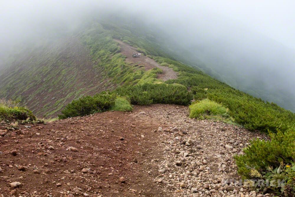 羊蹄山 真狩コース 登山 北海道 外輪 分岐
