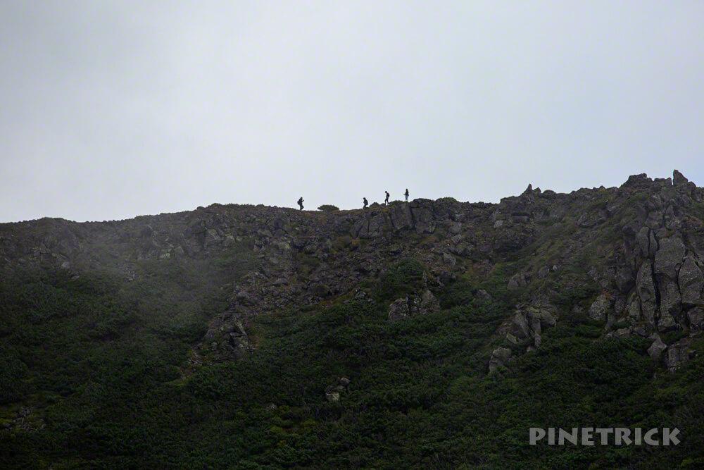 羊蹄山 倶知安コース ヒラフコース 登山 北海道 外輪 シルエット