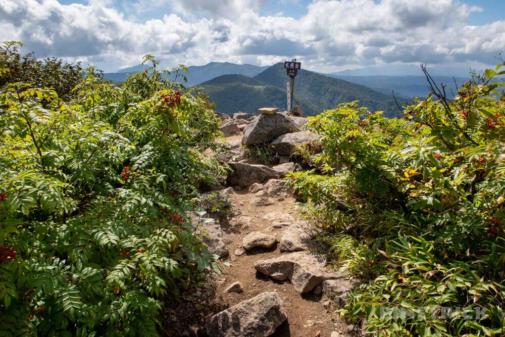 札幌岳 豊平峡 登山 北海道 山頂