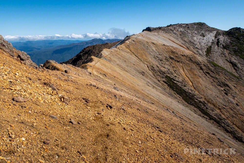 比布岳 登山 北海道 稜線