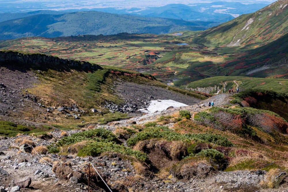 大雪山 お鉢周り 中岳分岐 裾合平 登山 北海道