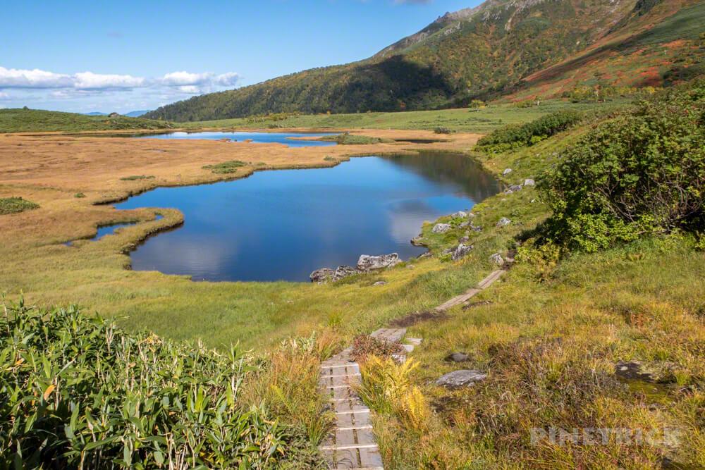 大雪山 登山 北海道 紅葉 沼の平 半月の沼