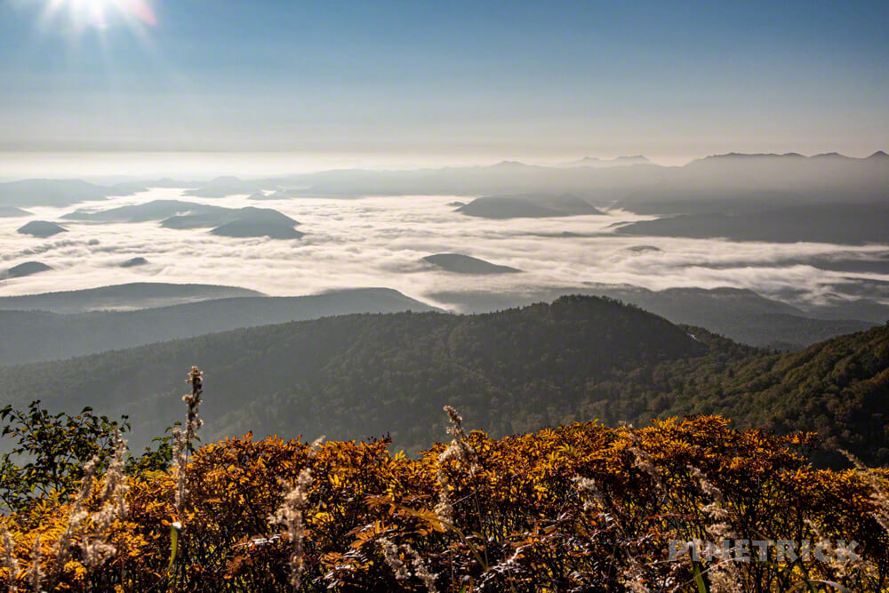 銀泉台 大雪湖 雲海 登山 北海道