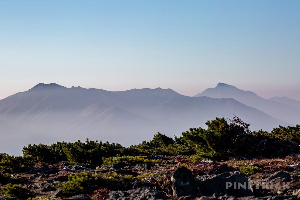 銀泉台 コマクサ平 石狩岳 ニペソツ山 赤岳