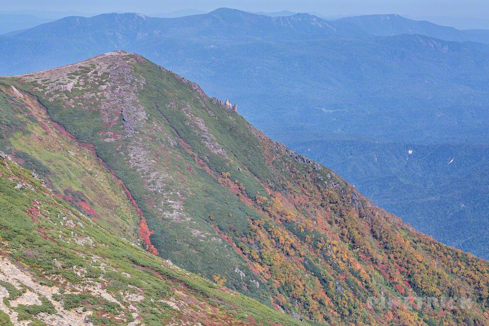 銀泉台 登山 北海道 赤岳 黒岳 まねき岩 紅葉