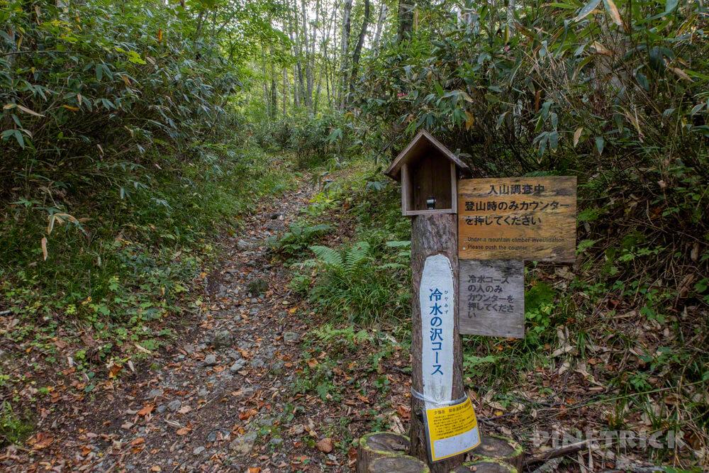 夕張岳 登山 北海道 冷水の沢コース