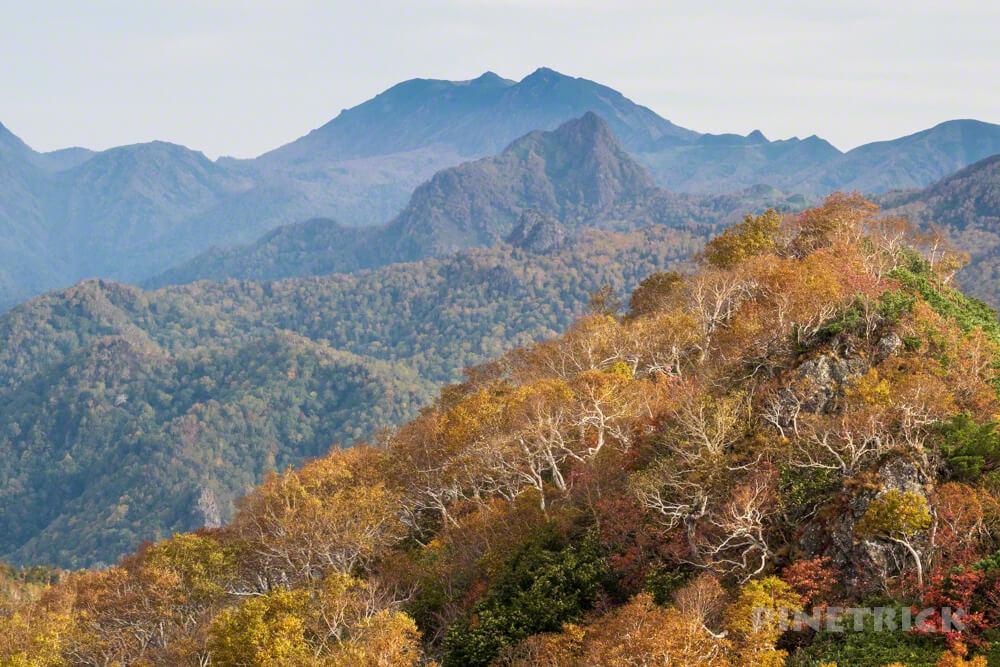 夕張岳 登山 北海道 紅葉 芦別岳